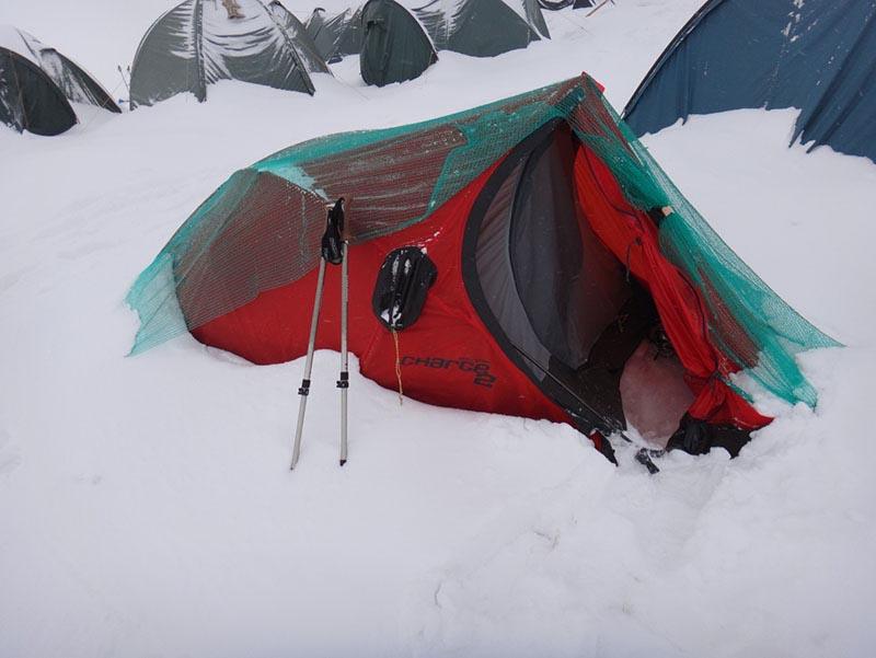 6097236862e Фотос 71: Палатка ми след 30 минути снеговалеж и редовно изтръскване.